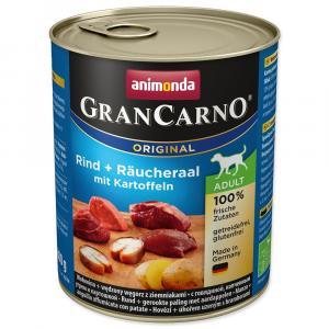 Konzerva ANIMONDA Gran Carno ADULT- uzený úhoř + brambory 800g
