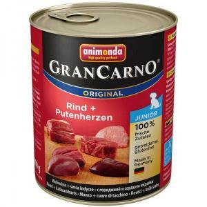 Konzerva ANIMONDA Gran Carno JUNIOR - hovězí, krůtí srdce 800g
