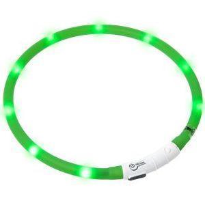 LED světelný obojek zelený obvod 20-75cm