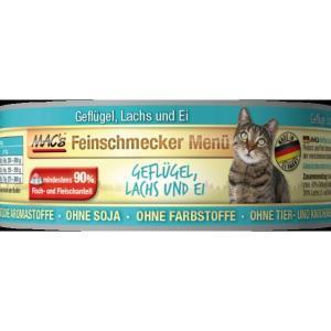 MACs Cat konzerva fajnšmekr drůbež a losos 100g