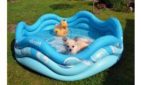 Ilustrační obrázek Alcott Nafukovací bazén pre psov, modrý, 121,9 x 40,6 x 121,9 cm