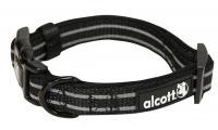 Ilustrační obrázek Alcott reflexné obojok pre psov čierny, veľkosť S