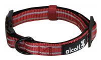 Ilustrační obrázek Alcott reflexné obojok pre psy červený, veľkosť M