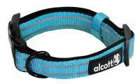 Ilustrační obrázek Alcott reflexné obojok pre psov modrý, veľkosť M