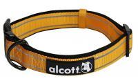Ilustrační obrázek Alcott reflexné obojok pre psy oranžový, veľkosť S