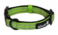 Ilustrační obrázek Alcott reflexné obojok pre psy zelený, veľkosť S