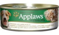 Ilustrační obrázek Applaws konzerva Dog JELLY kura s jahňacím mäsom v želé 156g