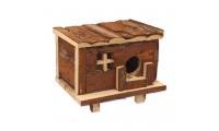Ilustrační obrázek Domek SMALL ANIMAL Srub dřevěný s kůrou 18x13x13,5cm