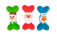 Ilustrační obrázek Flamingo Vianočné latexová hračka pre psov, kosť 19cm