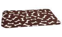 Ilustrační obrázek Karlie Fleecová deka hnedá kosť 100x70cm