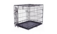 Ilustrační obrázek Klietka DOG FANTASY skladací čierna S - 1 dvere