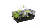 Ilustrační obrázek Klec SMALL ANIMAL Libor černá se zelenou výbavou