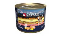 Ilustrační obrázek Konzerva ONTARIO mini calf, sweetpotato, dandelion and linseed oil 200g