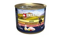 Ilustrační obrázek Konzerva ONTARIO mini Goose, cranberries, dandelion and linseed oil 200g