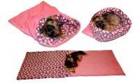 Ilustrační obrázek Maryse pelech 3v1 pre psov, srdiečka / ružový, veľkosť XL