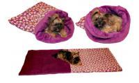 Ilustrační obrázek Maryse pelech 3v1 pre psov, srdiečko / fialový, veľkosť XL