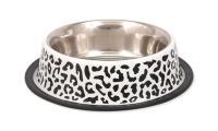 Ilustrační obrázek Miska DOG FANTASY nerezová s gumou leopard 0,7l
