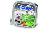 Ilustrační obrázek MONGE FRESH - paštéta a kúsky s kuraťom a zeleninou 100g