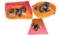 Ilustrační obrázek Pelech MAX - ružová / oranžová