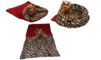 Ilustrační obrázek Pelech pre psov XL - fuchsiová / zebra