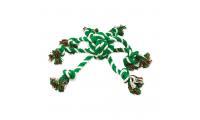 Ilustrační obrázek Preťahovadlo DOG FANTASY chobotnice zeleno-biela 45 cm