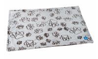 Ilustrační obrázek PROFIZOO Fleece Deka dvojvrstvová De Luxe 100 x 77 cm hnedá labka
