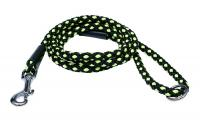 Ilustrační obrázek PROFIZOO Vodítko - syntetické lano (10mm x 150cm) čierno-zelená