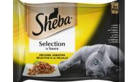 Ilustrační obrázek SHEBA kapsička Selection hydinové výber v šťave 4pack 340g
