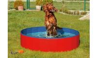 Ilustrační obrázek Skladací bazén pre psov červeno-modrý 160x30cm