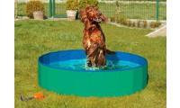 Ilustrační obrázek Skladací bazén pre psov zeleno / modrý 160x30cm