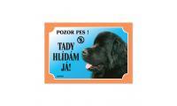 Ilustrační obrázek Tabuľka novofoundlandský pes čierny