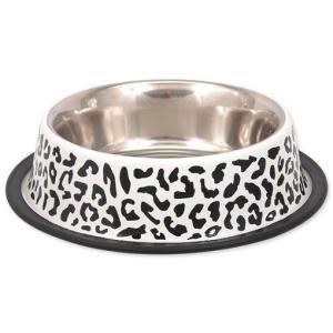 Miska DOG FANTASY nerezová s gumou leopard 0,7l