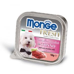 MONGE FRESH - paštika a kousky s tuňákem 100 g pro psy
