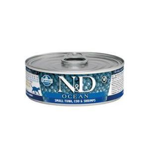 N&D CAT OCEAN Adult Small Tuna & Codfish & Shrimps 80g