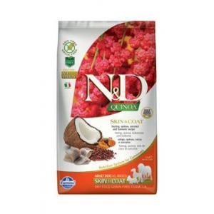 N&D GF Quinoa DOG Skin&Coat Herring & Coconut 2,5kg