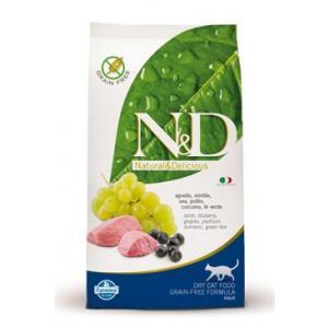 N&D Low Grain CAT Adult Lamb & Blueberry 1,5kg