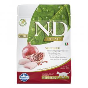 N&D PRIME CAT Neutered Chicken & Pomegranate 300g