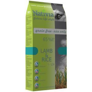 Nativia Dog Adult Lamb & Rice 15 + 3kg + DOPRAVA ZDARMA