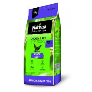 Nativia Dog Senior & Light 15 + 3 kg + DOPRAVA ZDARMA