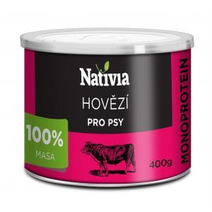 Nativia Konzerva hovězí svalovina 400 g