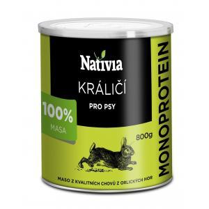 Nativia Konzerva králičí svalovina 800 g