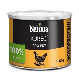 Nativia Konzerva kuřecí svalovina 400 g