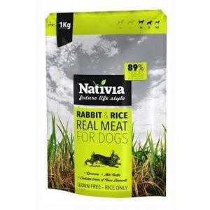 Nativia Real Meat rabbit & rice 8 kg