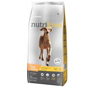 Nutrilove pes granule ACTIVE fresh kuřecí 12kg