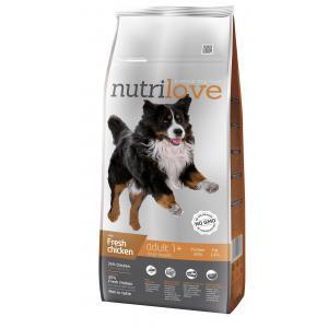 Nutrilove pes granule ADULT L fresh kuřecí 12kg