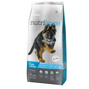 Nutrilove pes granule JUNIOR L fresh kuřecí 12kg