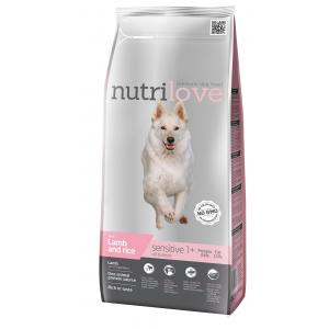 Nutrilove pes granule SENSITIVE jehněčí and rýže 12kg