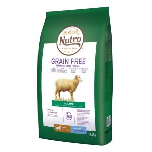 NUTRO ™ GRAIN FREE ™ granule s jahňacím pre šteňatá a mladé psy 11,5 kg + DOPRAVA ZADARMO