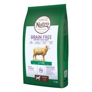 NUTRO™ GRAIN FREE™ granule s jehněčím pro dospělé psy 11,5 kg
