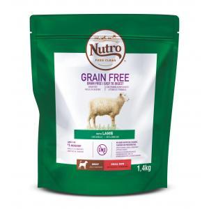 NUTRO™ GRAIN FREE™ granule s jehněčím pro dospělé psy malých plemen 1,4 kg